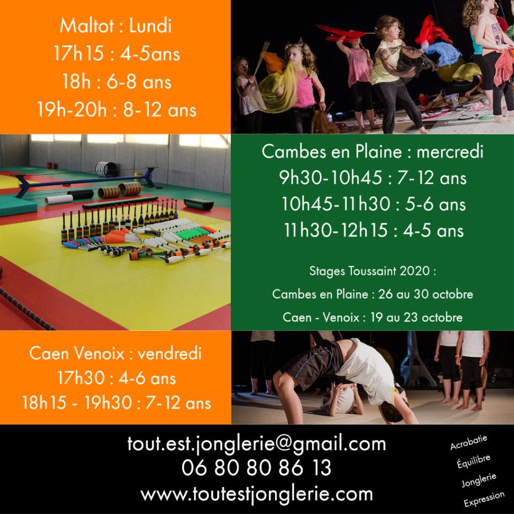 Cirque Enfant Cambes en Plaine Maltot Caen Tout Est Jonglerie