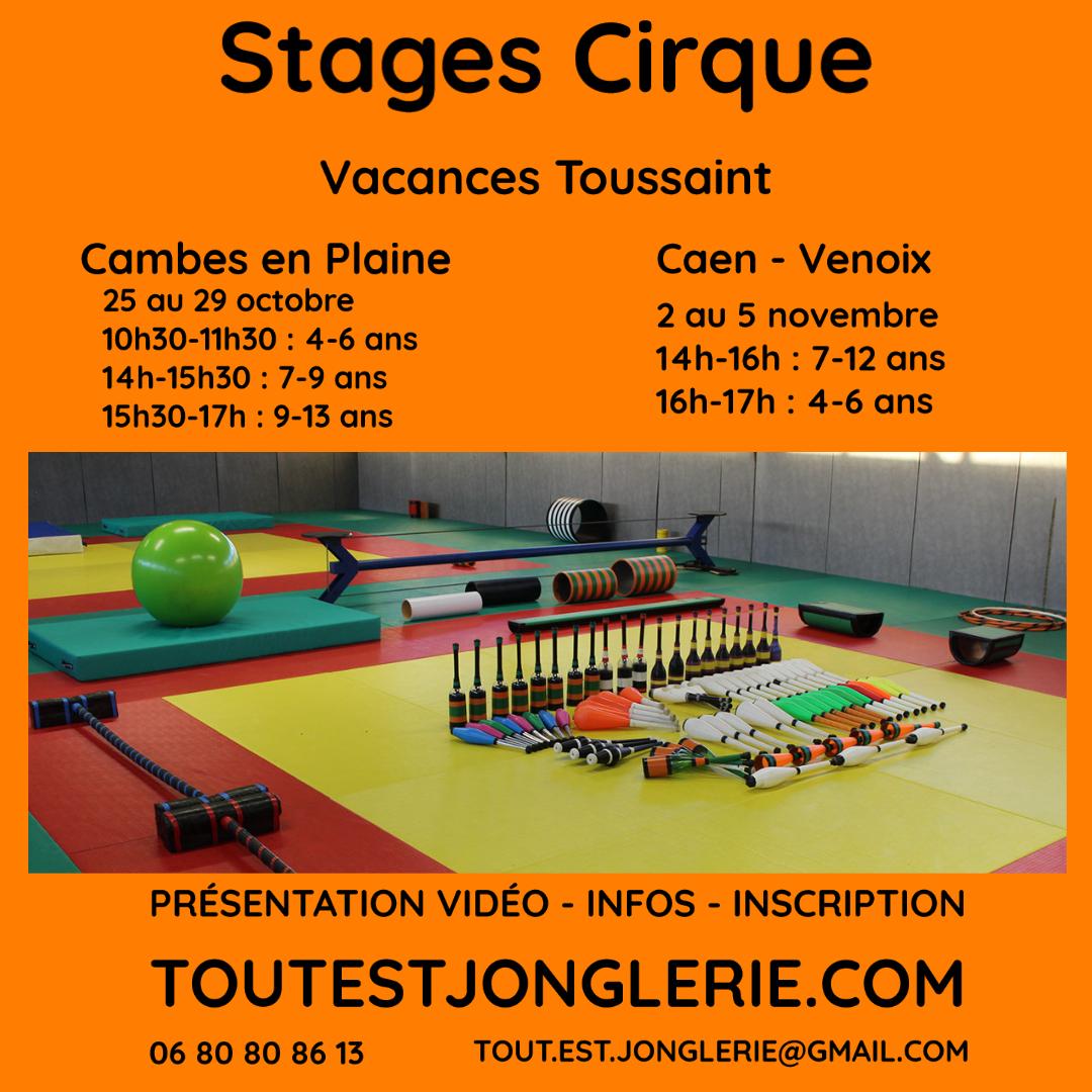 STage cirque Toussaint Tout Est Jonglerie
